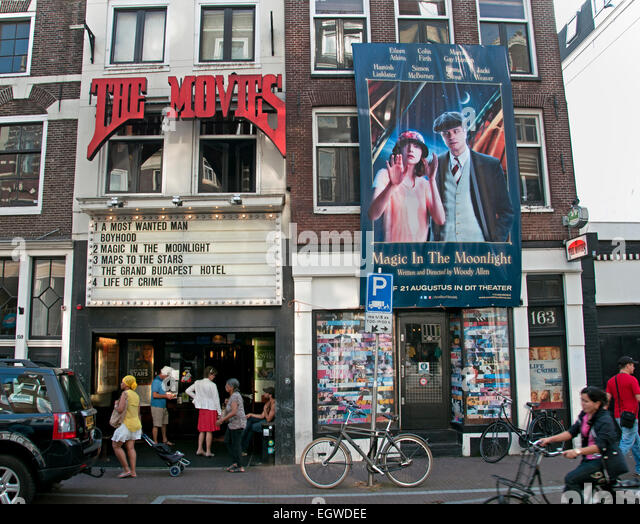 The Movies oldest movie theater (  art deco interior ) in Amsterdam. The movie theater on Haarlemmerdijk emerged - Stock Image