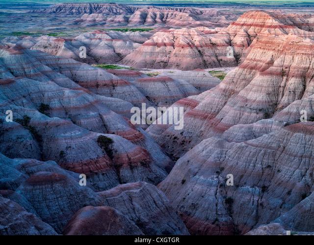 Colorful formations in Badlands National Park, South Dakota - Stock-Bilder
