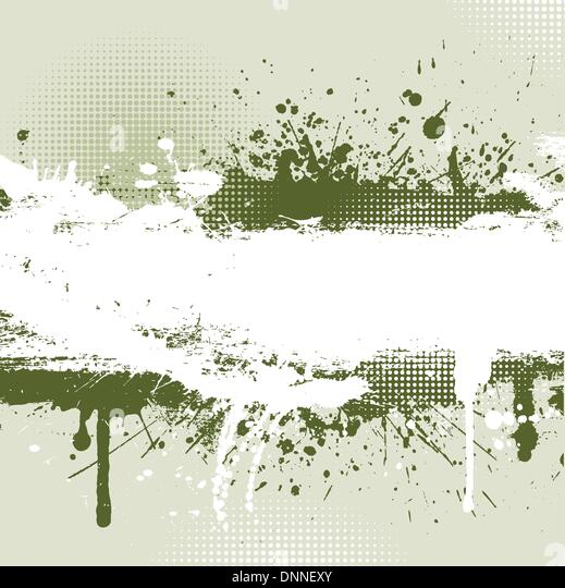 Detailed grunge background with splats and drips - Stock Image