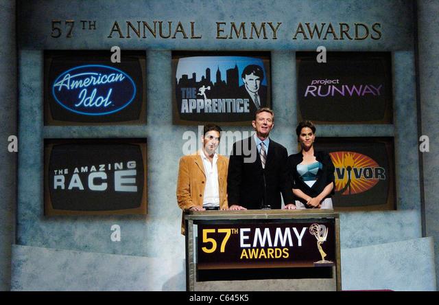 Michael Imperioli, Dick Askin, Jami Gertz at the press conference for 57th Annual Primetime Emmy Awards Nominations - Stock-Bilder