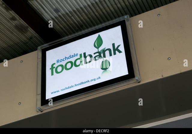 rochdale foodbank - Stock Image