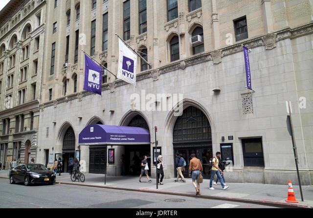 NYU Frederick Loewe Theatre musical theatre hall of fame New York City USA - Stock Image