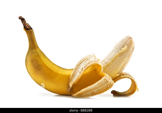 banana isolated on white - Stock Image