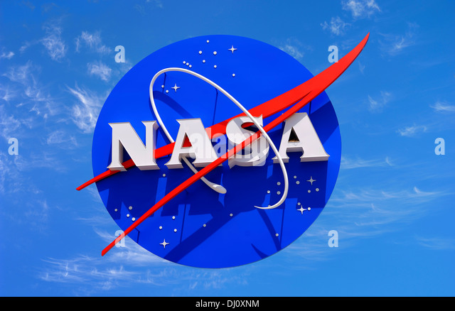 The insignia of NASA at the Space Center in Florida. USA. National Aeronauticsand Space Administration. - Stock-Bilder