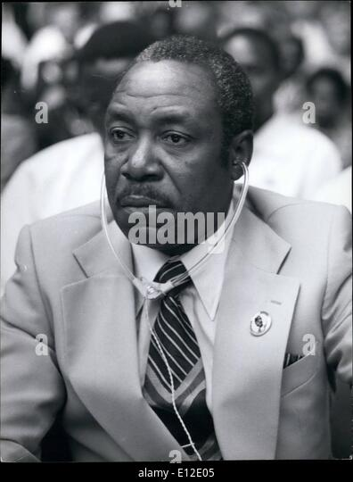 Dec. 15, 2011 - Louis Lansana Beavogui, Prime minister of Guinea. Minister of Trade and Industry 1957. Minister - Stock Image