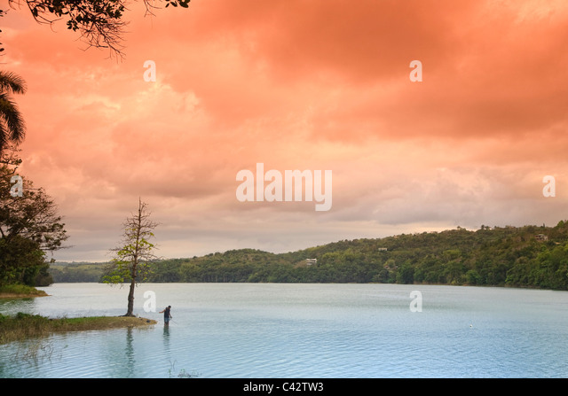 Usa, Caribbean, Puerto Rico, Guajataca Lake - Stock Image