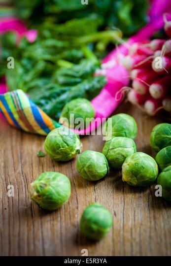 Still life of fresh vegetables. - Stock Image