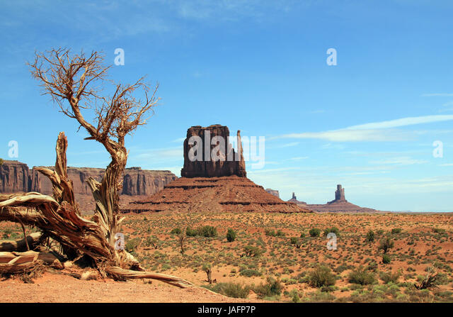 View of Monument Valley Navajo Tribal Park. Utah, United States - Stock Image