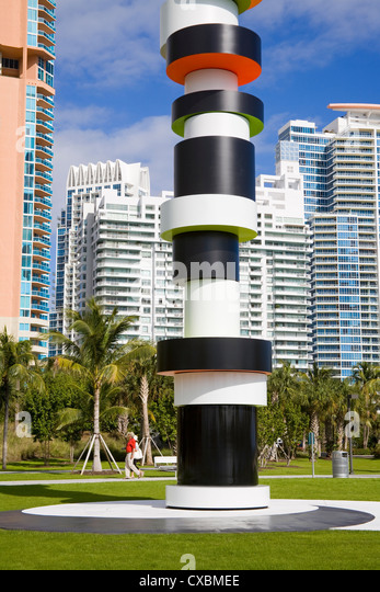 South Point Park, Miami Beach, Florida, United States of America, North America - Stock Image