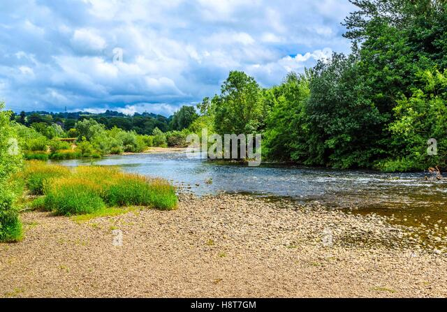 A lovely river in Shropshire, England - Stock Image