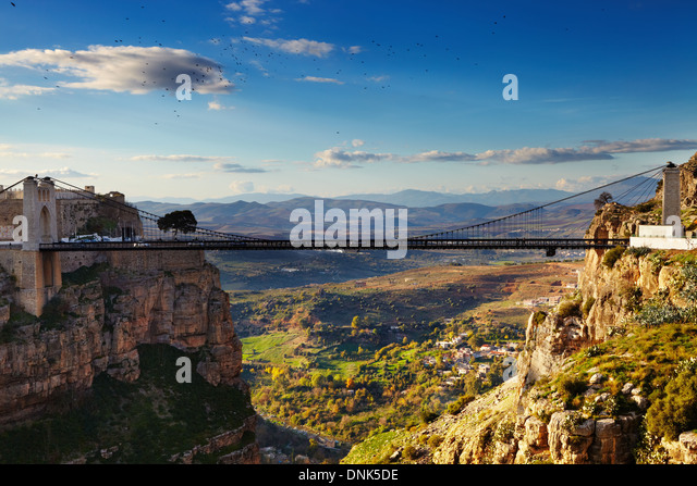 Constantine, the City of Bridges, Algeria - Stock Image