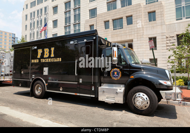 FBI bomb technician van at FBI Field Office - Washington, DC USA - Stock Image