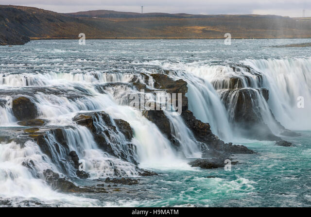 Gullfoss waterfall - Iceland - Stock Image