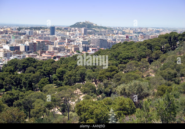 Cagliari cityscape, Sardinia, Europe - Stock Image
