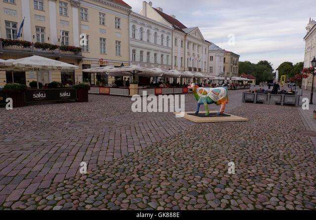 Tartu, Estonia 19th August, 2016. Today started campaign of Estonian Food Industry Association where is starring - Stock Image