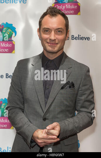 New York, United States. 14th Nov, 2016. Jude Law an honoree attends Only Make Believe Gala MAKE BELIEVE ON BROADWAY - Stock-Bilder