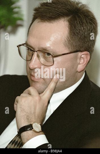 The Russian Customs Committee chairman Mikhail Vanin - Stock Image