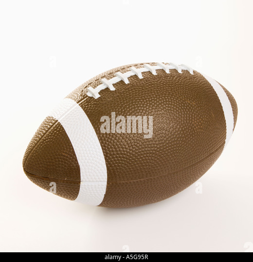 American football on white background - Stock Image
