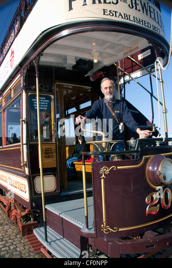 Old tram, Woodside, Birkenhead, Wirral, Merseyside, NW England, UK - Stock Image