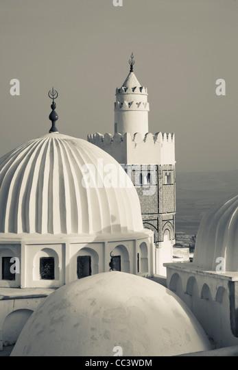 Tunisia,Central Western Tunisia, Le Kef, Zouia of Sidi Abdallah Boumakhlouf mosque - Stock Image