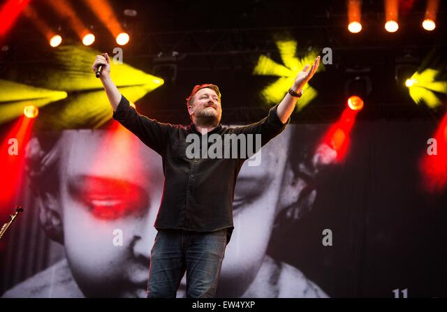 Elbow perform live at Pinkpop Festival 2015 in Landgraaf Netherlands © Roberto Finizio/Alamy Live News - Stock Image