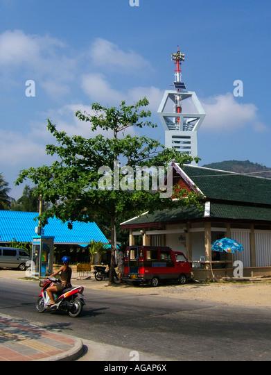 Thailand Phuket Tsunami warning tower - Stock Image