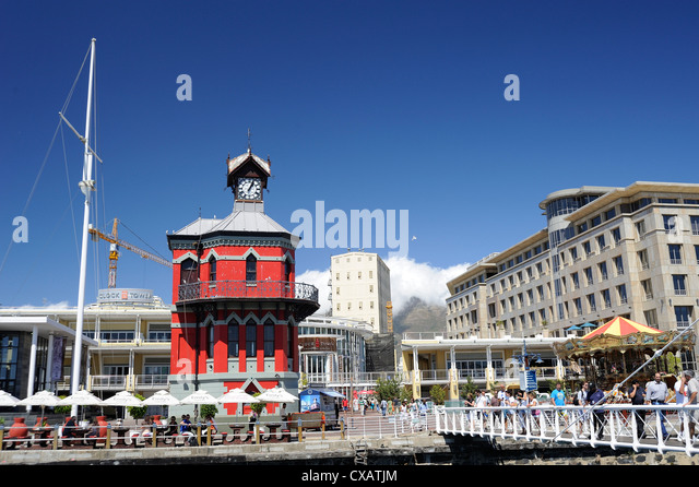 Clock Tower, the Waterfront, Cape Town, South Africa, Africa - Stock Image
