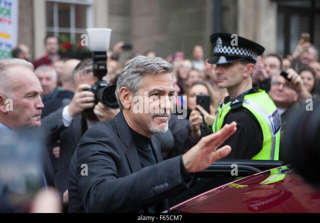 Edinburgh, UK. 12 November. George Clooney seen in Edinburgh. Pictured George Clooney. Pako Mera/Alamy Live News. - Stock Image