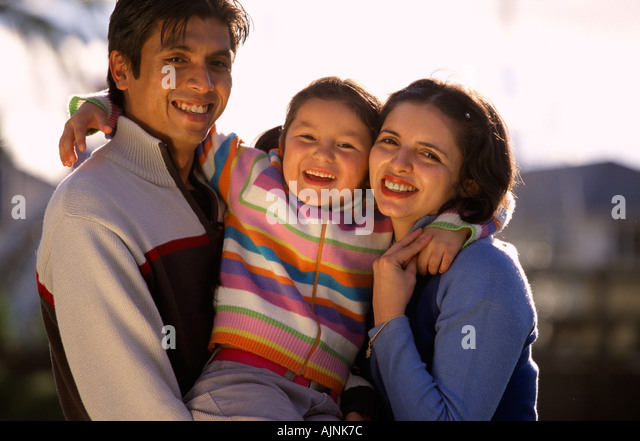 Chilean Australian family Melbourne Victoria Australia Horizontal  - Stock Image