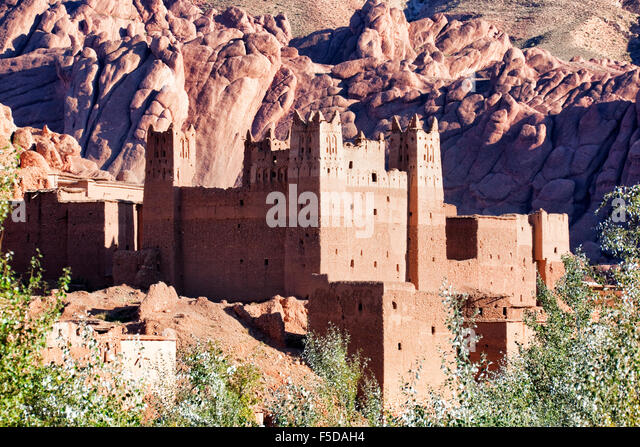Old Kasbah in the Dades Valley, South Morocco. - Stock Image