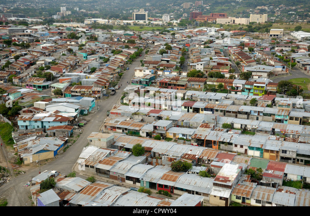 San Jose, Costa Rica, from the air - Stock Image