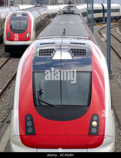 Intercity Tilting Train RABDe 500, SBB CFF FFS, Switzerland - Stock-Bilder