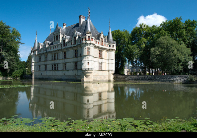 chateau azay le rideau stock photos chateau azay le rideau stock images alamy. Black Bedroom Furniture Sets. Home Design Ideas