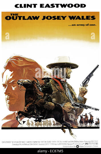Film poster for the film 'The Outlaw Josey Wales' - Stock-Bilder