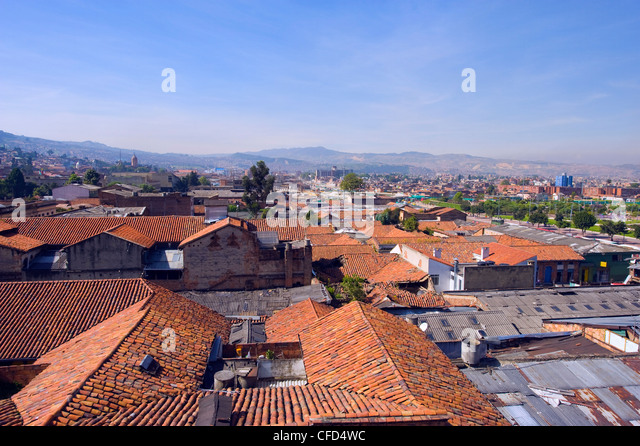Rooftop city view, Bogota, Colombia, South America - Stock Image