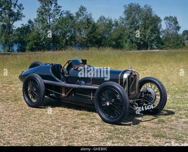 1922 Sunbeam 'Strasbourg' 2.0 litre Grand Prix single seat racing car. 4 cylinder, twin overhead cams, 4 - Stock Image