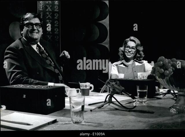 Jan. 01, 1972 - It was a historical evening uin the Swedish Television last Sunday. For the first time a Royal person - Stock Image