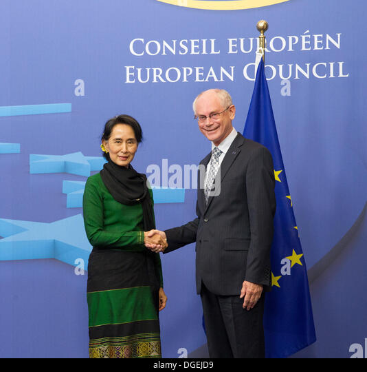 Burmese Peace Prize Laureate Aung San Suu Kyi - Stock-Bilder