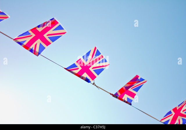 Great Britain flag bunting. - Stock-Bilder