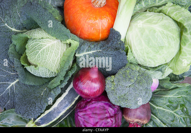 Close up of bowl of produce - Stock Image