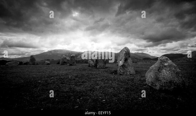 The ancient stones of Castlerigg stone circle - Stock-Bilder