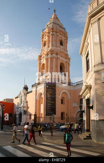 Convent of Santa Domingo, Ciudad de los Reyes, Historic center of the city, Lima, Peru - Stock Image