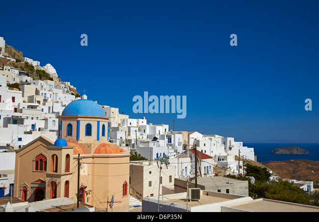 Hora, Serifos Island, Cyclades, Greek Islands, Greece, Europe - Stock Image