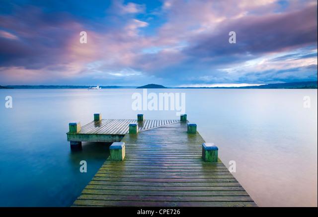 Lake Rotorua, North Island, New Zealand, Pacific - Stock Image