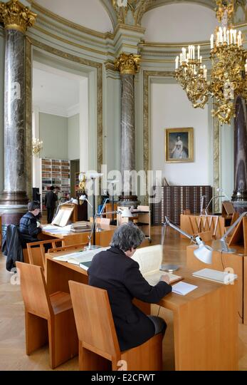 France, Paris, Bibliotheque-Musee de l'Opera National de Paris is a library and museum of the Garnier Opera - Stock Image