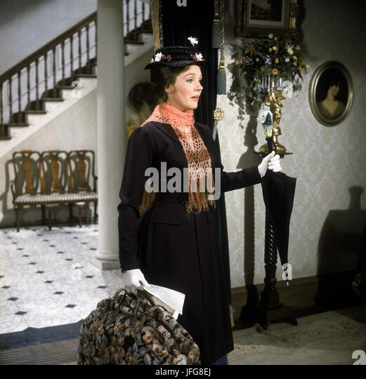 JULIE ANDREWS MARY POPPINS (1964) - Stock Image