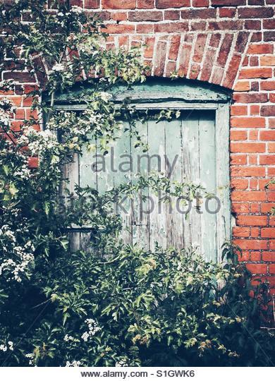 Old Barn Door - Stock Image