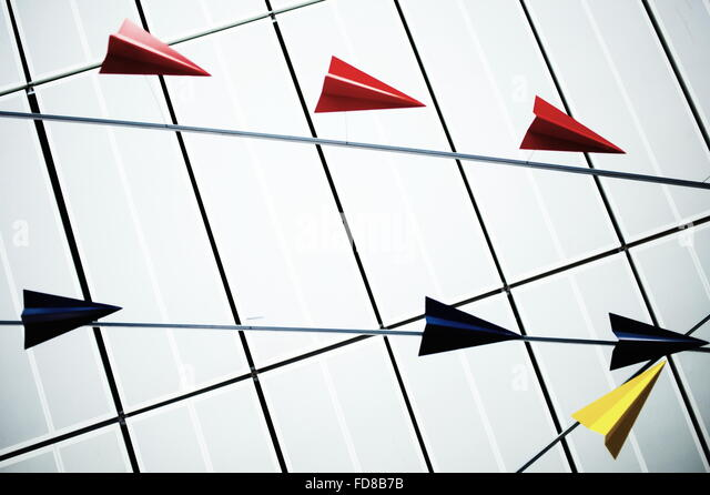 Origami Planes - Stock Image