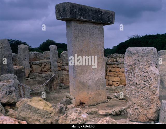 Menorca Balearic Islands Spain Torralba D'en Salore Talayot - Stock Image