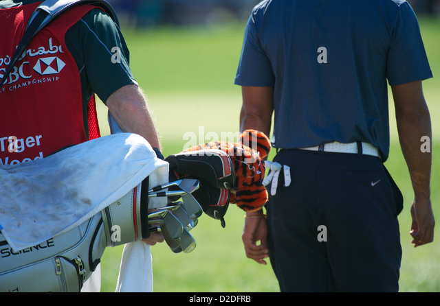 18.01.2013 Abu Dhabi HSBC Golf championship european tour, round 2, tiger woods - Stock Image